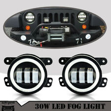 30W High Power LED Fog Light Lamps No Halo Rings Fit Acura Honda Ford Subaru