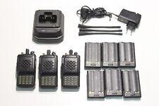 A REPROGRAMMER : Lot de 3 Radio VHF VERTEX VX-800V + 1 chargeur & 6 batteries (K