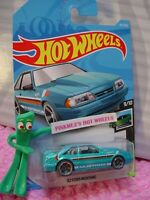 92 FORD MUSTANG #152✰teal blue;mc5 gray✰SPEED BLUR✰2019 i Hot Wheels WW CASE G/H