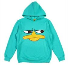 Phineas and Ferb PERRY Face Sweatshirt HOODIE Jacket Boy's 10/12 NeW Large NWT