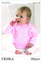 Cardigans, Hat & Sweater Double knitting pattern. (Prem - 12mths ) -UKHKA119