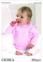 Cardigans, Hat & Sweater Double knitting pattern. (Prem - 12mths ) -UKHKA119