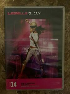 Les Mills SHBAM 14 DVD, CD, NOTES sh bam sh'bam