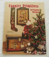 Maxine Thomas Country Primitives Booklet Painting Pattern Book Holidays 1993