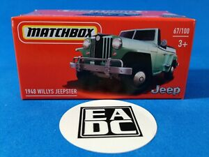 2021 MATCHBOX POWER GRABS 1948 WILLYS JEEPSTER GREEN EADC