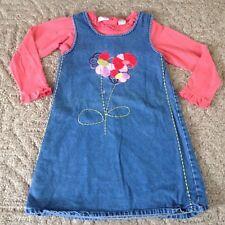 Girl's 2-piece Blueberi Boulevard jean jumper/shirt set size 6X blue melon