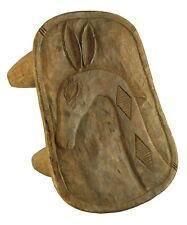 "Senufo Wood Stool 14"" - Giraffe Carving - Ivory Coast African Tribal Art"
