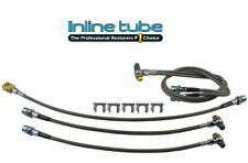 2001-2007 Silverado/Sierra 2500HD/3500 Complete Brake Hose Kit Braided Stainless