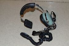 DAVID CLARK HEADSET MODEL H3391- WITH M-1/DC AMPLIFIED DYNAMIC