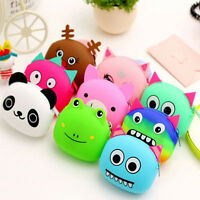 Women Wallet Kawaii Cartoon Animal Silicone Jelly Coin Money Bag Purse Kids Gift