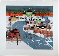 Vintage Print by Kevin Huang, Signed Serigraph & Silkscreen, Limited Edition