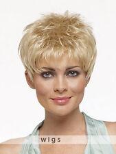 Wie Echthaar Natural Hell Blond Dame Perücke Mode Kurz Haar Perücken Perruques