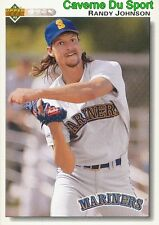 164 RANDY JOHNSON SEATTLE MARINERS  BASEBALL CARD UPPER DECK 1992