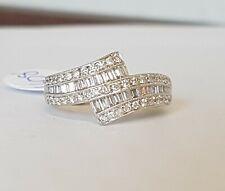 18ct White Gold Diamond Half Eternity Ring 0.71ct