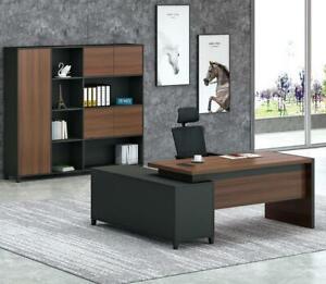 Eckschreibtisch Büro Chef Zimmer Möbel Design Schreibtische Praxis Kanzlei Möbel