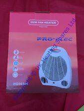 PRO-Elec 1000w & 2000w 2kw ventilatore portatile riscaldatore (Riscaldamento) hg00345