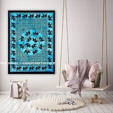 Indian Tapestry Elephant Mandala Wall Hanging Wall Decor Poster Handmade Throw