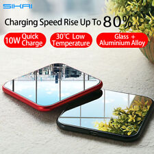 For iPhone X 8 Samsung Galaxy S8 S8+ S9 Ultra-thin Wireless Charger Charging Pad