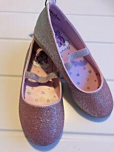 H&M Shoe Girls Size Uk 11 My Little Pony Euro 28 Flat Pump Sparkle Glittery