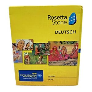 Rosetta Stone Learn German Level 1 Ver 4 Software Sealed