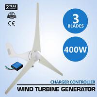 400W Wind Turbine Generator 20A Charger Clean Energy PBT Leaf 3/5 Blads HOT