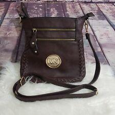 Michael kors Brown Crossbody Handbag With Braided Detailed