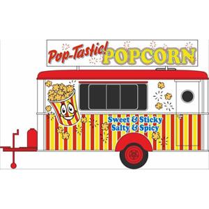 Oxford 87TR016 Popcorn Mobile Trailer Anhänger 1/87