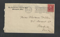1914 THE NORTHWESTERN NATIONAL BANK MINNEAPOLIS MINN ADVERTISING COVER + Letter
