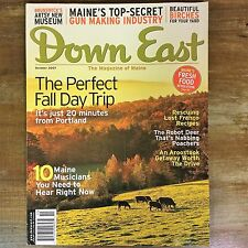 DOWN EAST Magazine of Maine OCTOBER 2007 Fall Day Trip Gun Making Industry Birch