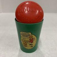 VINTAGE LITTLE ORPHAN ANNIE 1940s OVALTINE BEETLEWARE SHAKER CUP TYPE 4  GREEN