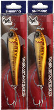 "2 Shimano Waxwing Jigs Ww118 casting sink swim lures (gold & black, 4.6"", 1.5oz)"