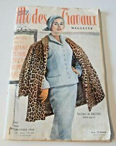 Magazine Modes & Travaux Janvier 1958
