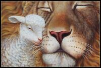 The Lion and the Lamb - Chart Counted Cross Stitch Pattern Needlework DIY DMC