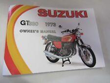 Suzuki GT380  1973 owner's manual  GT380K