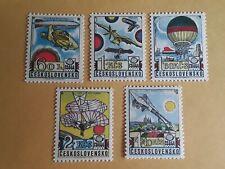 Czechoslovakia, PRAGA 1978 Early Aviation, 1977 Scott C89-93, 5 Stamps, MNH