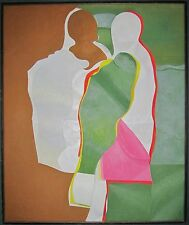 VINTAGE MID CENTURY MODERN CUBISM RUSSIAN AMERICAN LISTED ARTIST NY SMITHSONIAN