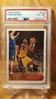 1996-97 Topps #138 Kobe Bryant Los Angeles Lakers RC HOF PSA 6 EX-MT Center Well