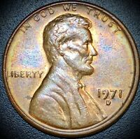 1971 D Lincoln Memorial Cent Doubled Die Penny + Rotated Die Error! Nice Tone!
