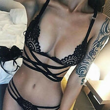 Ladies Lace Floral Embroidery Bra and Knicker Sets Gorgeous Lingerie M SIZE