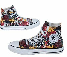 KID Boy Girl CONVERSE All Star NYC WALL GRAFFITI HI TOP Trainers Boot SIZE UK 10