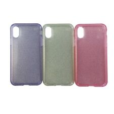 Speck Presidio Clear Glitter Case 3 Pack for iPhone X 10 - Pink Gold and Purple