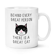 Derrière chaque grand personne est un grand chat 10oz tasse-crazy cat lady drôle
