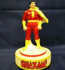 Vintage 1978 DC SHAZAM ! Ceramic Spinning Music Box Figure Captain Marvel Levi
