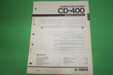 Originale Service Anleitung und Schaltplan Yamaha CD-400 CD-Spieler!!