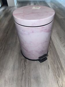 Pink Marble Garbage Can