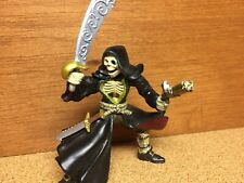 "2005 Papo Skeleton Knight Medieval Sword/Gun Armor Fighter Action Figure 4"""
