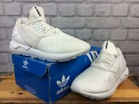 ADIDAS MENS UK 8 EU 42 TUBULAR RUNNER TRAINERS WHITE RRP £85 J