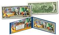 Wizard of Oz * YELLOW BRICK ROAD * Officially Licensed Legal Tender $2 Bill