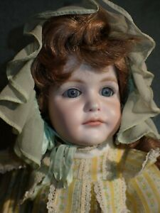 """Lovely Bisque Head Reproduction  Antique K Star R Doll 17"""" Carol Boyd 1977"""