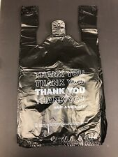 Black t-shirt bags 1000 1/6 Grocery Store bags Liquor St 00004000 ore Thank You